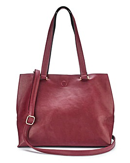 Mia Oxblood Shopper Bag