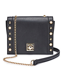 Black Studded Shoulder Bag