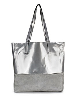 Joanna Hope Suede Metallic Shopper Bag