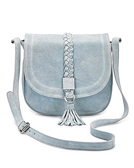 Joanna Hope Suede Saddle Bag