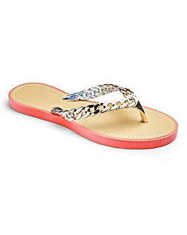 Sole Diva Chain Detail Sandals