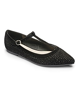 Sole Diva T-Bar Shoes EEE Fit