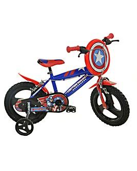 Marvel Captain America 14 inch Bike