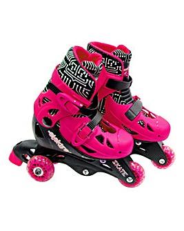 Elektra Tri Line Adjustable Boots Pink