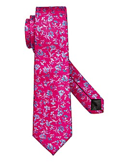 W&B London Floral Silk Tie