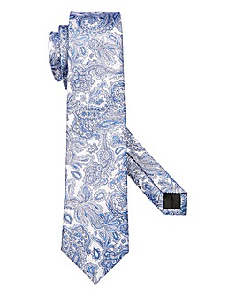 W&B London Paisley Silk Tie