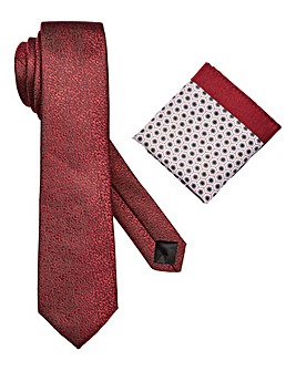 W&B London Printed Tie and Pocket Square