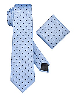 W&B London Spot Tie and Pocket Square