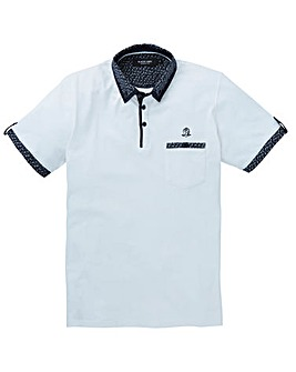 Black Label Trim Cuff Polo Long