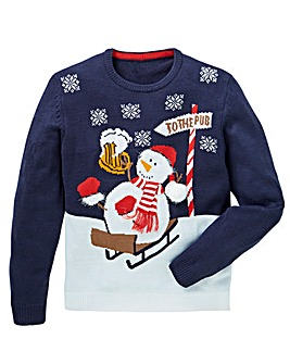 Label J Snowman Xmas Knit Long