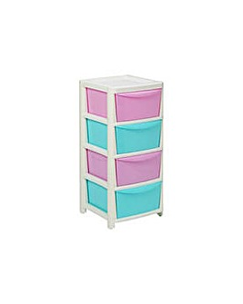 HOME 4 Drawer Storage Tower - Pink.