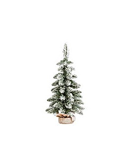HOME 2ft Flocked Snowy Christmas Tree