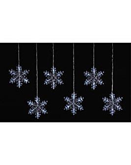 6 Snowflake Window Lights.