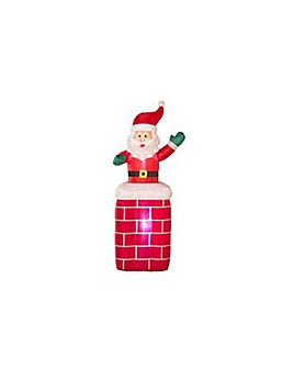HOME Inflatable Santa on Chimney.