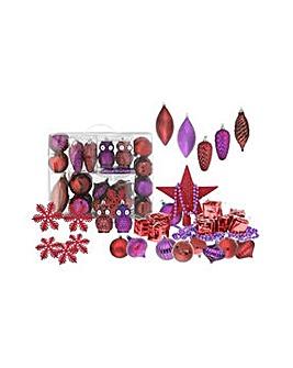 48 Piece Wild Bauble Pack - Berry