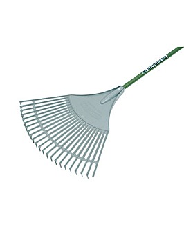 Bulldog Evergreen Plastic Leaf Rake Alum
