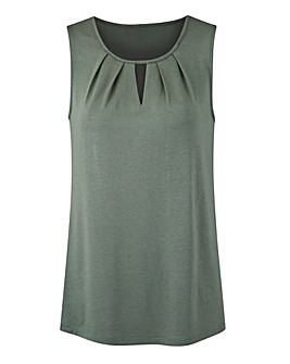 Dark Olive Pleat Detail Vest