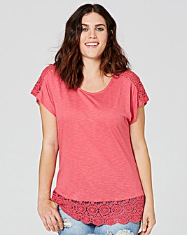 Rose Crochet Trim T-shirt