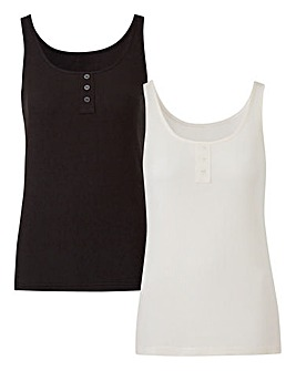 Pack of 2 Button Vests