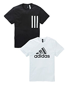 adidas Pack of Two Graphic T-Shirts