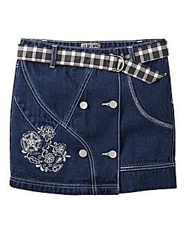 Joe Browns Girls Denim Floral Skirt