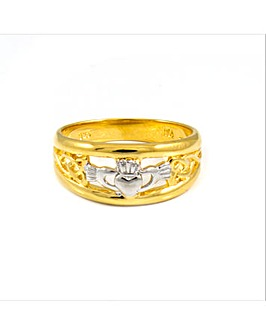 Gold Plated Silver Ladies Claddagh Ring
