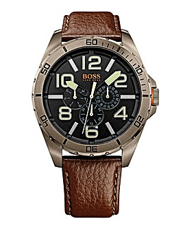 Boss Orange Gents Brown Strap Watch