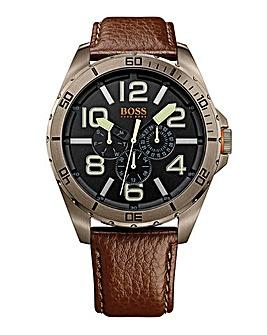 Boss Orange Gents Brown Strap Watch
