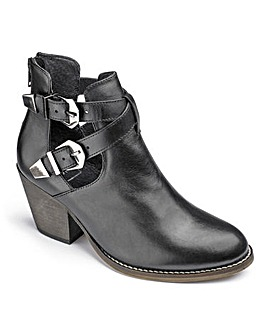 Catwalk Cut Out Ankle Boots EEE Fit