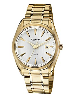 Accurist Gents Gold-Tone Bracelet Watch