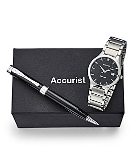 Accurist Gents Watch And Pen Set