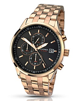 Skonda Gents Rose-Gold Bracelet Watch
