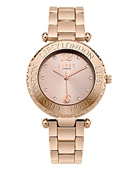 Lipsy Ladies Rose-Tone Bracelet Watch