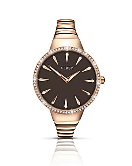 Seksy Ladies Large Dial Watch