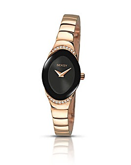 Seksy Ladies Rose Tone Bracelet Watch
