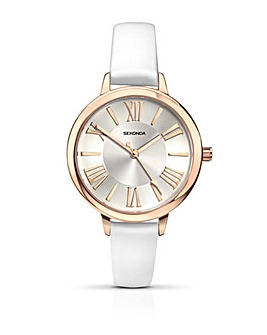 Sekonda Ladies White Strap Watch