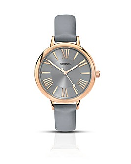 Sekonda Ladies Grey Strap Watch