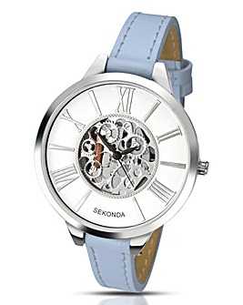 Sekonda Ladies Skeleton Dial Watch -Blue
