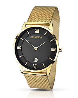 Sekonda Gold Tone Mesh Strap Watch