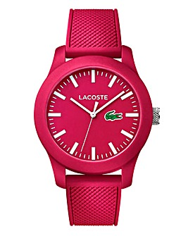 Lacoste Pink Silicon Strap Watch