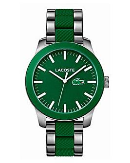 Lacoste Gents Green Two Tone Watch