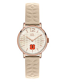 Orla Kiely Ladies Nude Strap Watch
