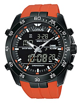 Lorus Gents Orange Sports Watch
