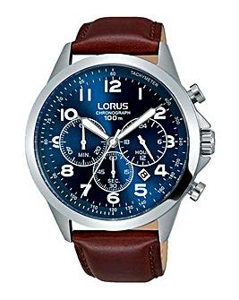 Lorus Blue Face Chronograph Watch