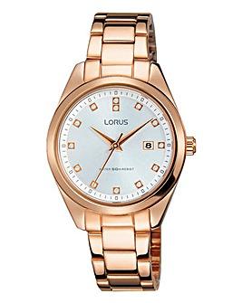 Lorus Ladies Rose Tone Bracelet Watch