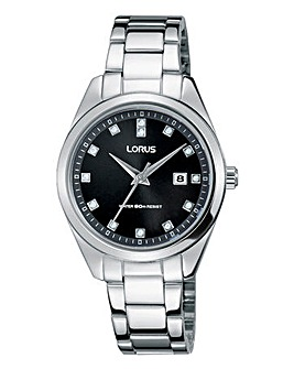 Lorus Ladies Silver Tone Bracelet Watch
