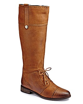 Catwalk Brogue Detail Boot Super Curvy E