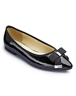 Sole Diva Pointy Bow Shoe E Fit