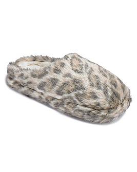 Sole Diva Leopard Mule Slippers EEE