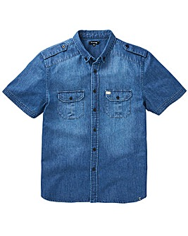 Firetrap Arizona Denim Shirt Long